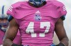 Sophomore linebacker Justin Hilliard high on Arkansas after visit.