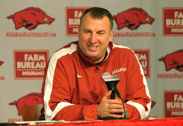 Arkansas coach Bret Bielema said he is looking out for players' safety by proposing a rule change that would allow 15 seconds for substitutions after first downs by a no-huddle offense.