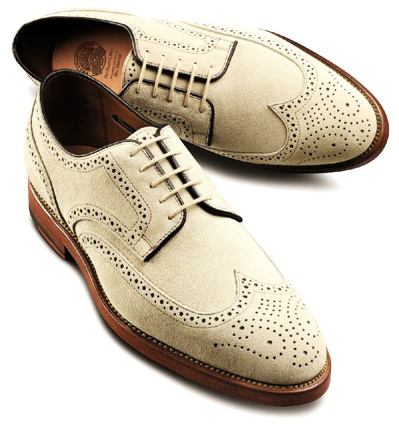 white buck suede oxford shoes