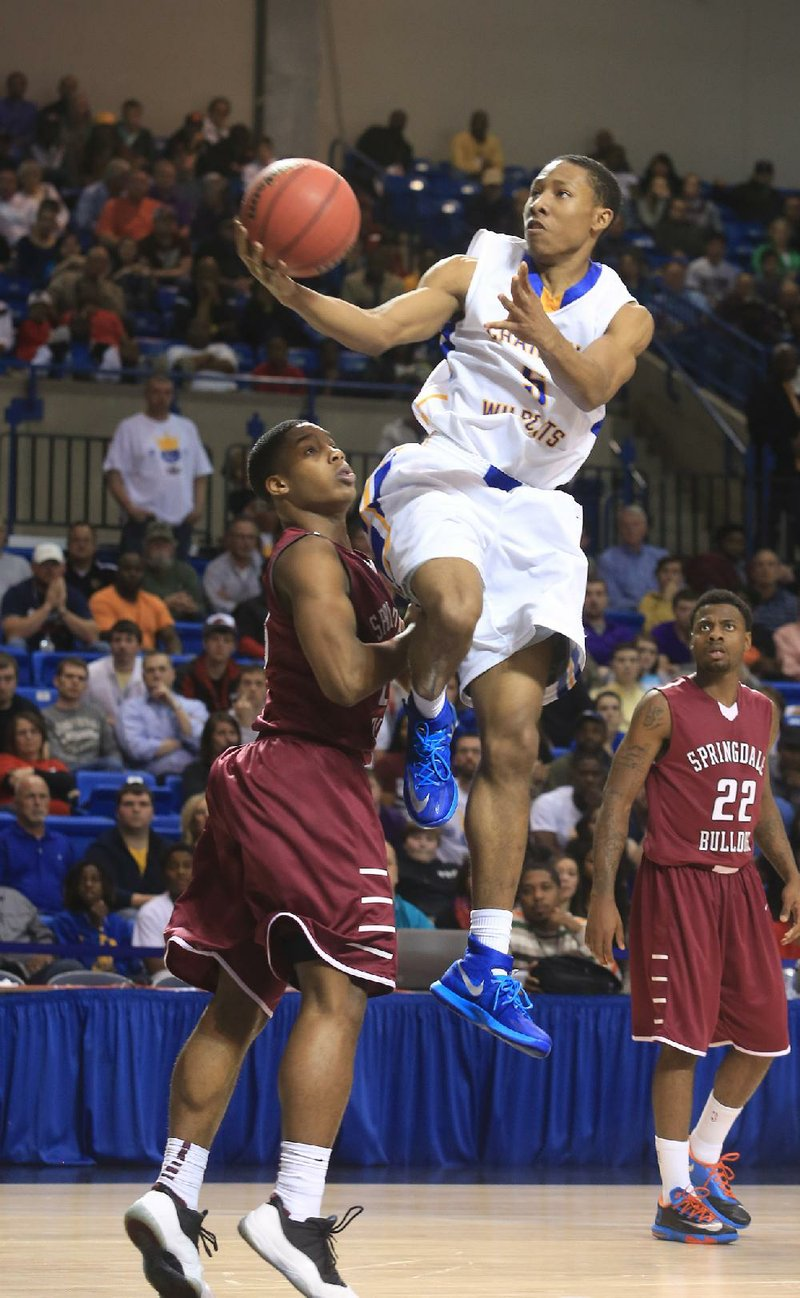 KeVaughn Allen averaged 21 points and 6.8 rebounds per game in leading North Little Rock to the Class 7A state title this season.