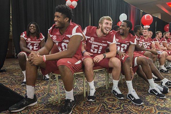 Brooks Ellis Arkansas Razorbacks Football Jersey - Red