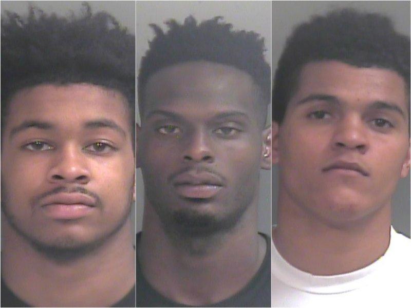 Anton Beard, Jacorey Williams and Dustin Thomas