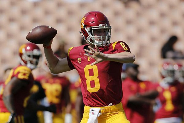 Quarterback Ricky Town, shown in this AP file photo, is transferring to Arkansas after going through spring practice at Southern California.