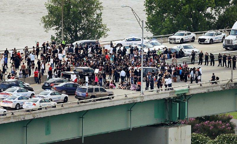 Black Lives Matter Protesters Block I 40 Bridge