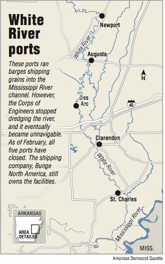 map of white river in arkansas Farmers Hope White River S Barges Return map of white river in arkansas