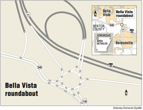 Bella Vista Arkansas Map Roundabout in state's plan for Bella Vista
