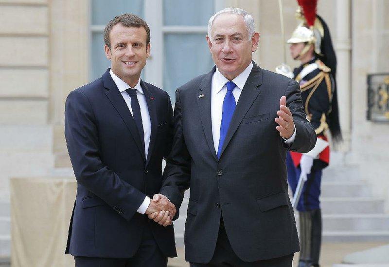 Macron Netanyahu Hail Alliance