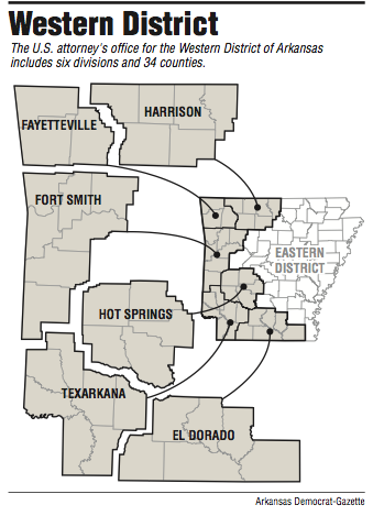 map of western arkansas Wal Mart Director Picked For U S Attorney In Western District Of map of western arkansas