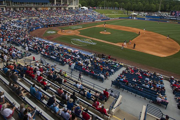 Hoover Metropolitan Stadium is shown Wednesday, May 23, 2018, during the SEC Tournament in Hoover, Ala.