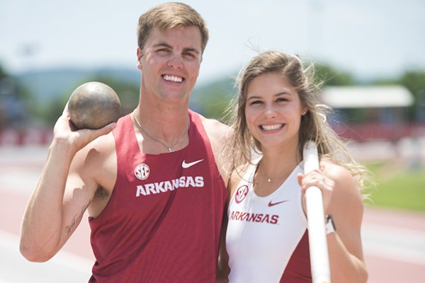 Arkansas field athletes Derek and Lexi Jacobus will compete in the NCAA Outdoor Track & Field Championships this week in Eugene, Ore.