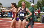 Arkansas' Nikki Hiltz finished second in the 1,500 meters at the NCAA Outdoor Championships in Eugene, Ore.