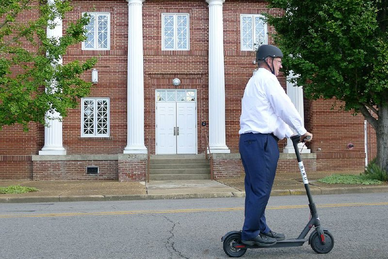 residents take to electric scooters like ducks to water after company s first foray into arkansas residents take to electric scooters