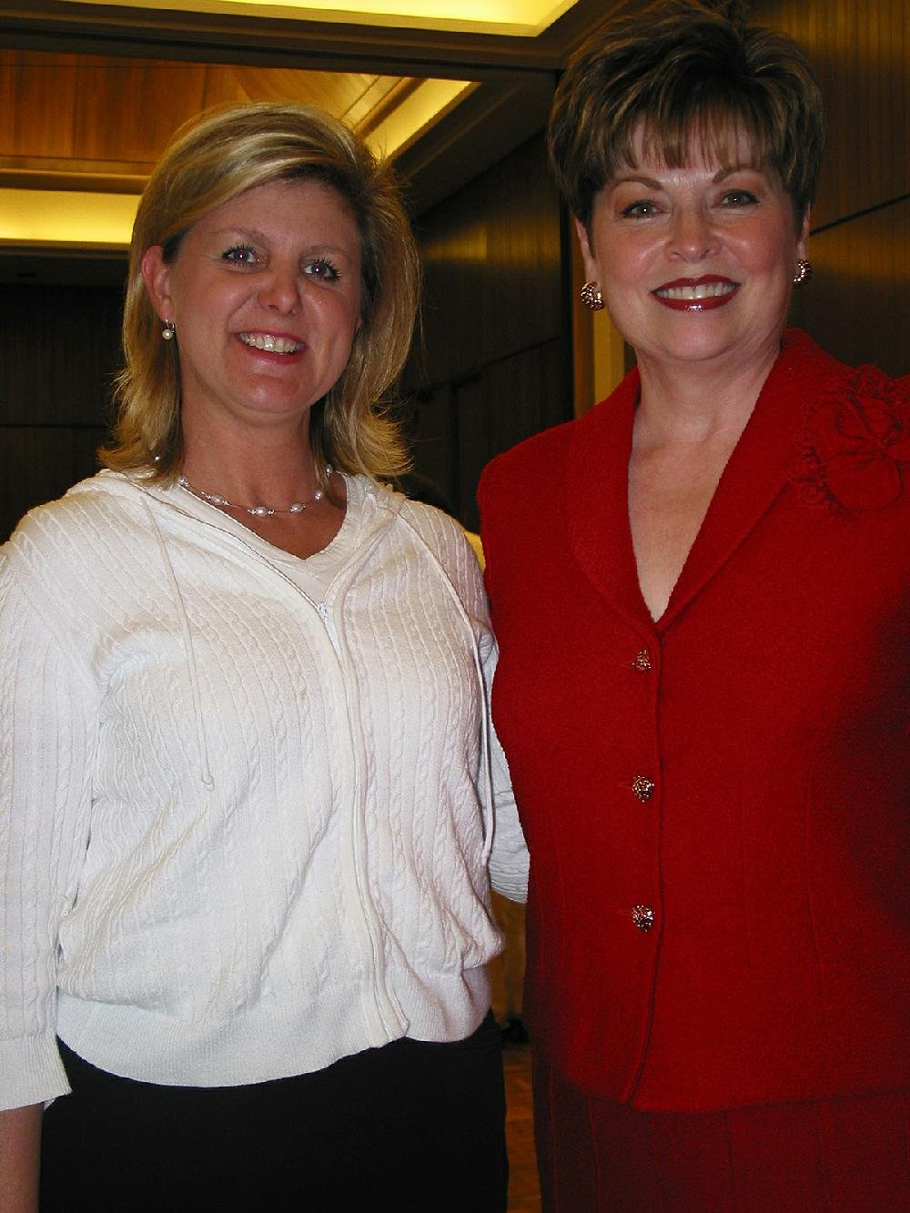 Karen Van Horn and emcee Donna Axum Whitworth of Fort Worth.