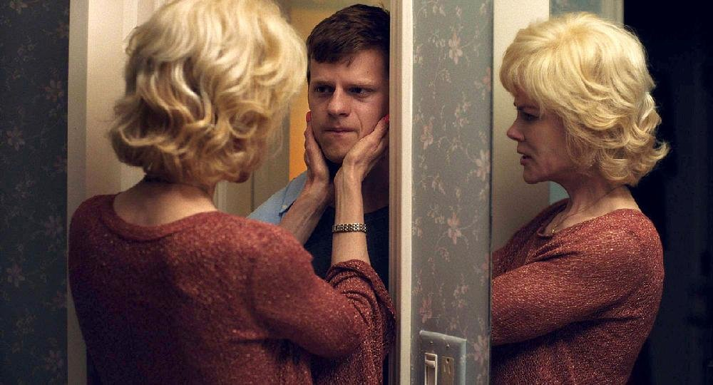 Nancy Eamons (Nicole Kidman) reassures her son, Jared (Lucas Hedges), in Joel Edgerton's family drama Boy Erased, a lightly fictionalized version of Arkansan Garrard Conley's story.