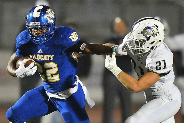 Junior Brandon Thomas has rushed for more than 1,600 yards and 14 touchdowns for North Little Rock this season.