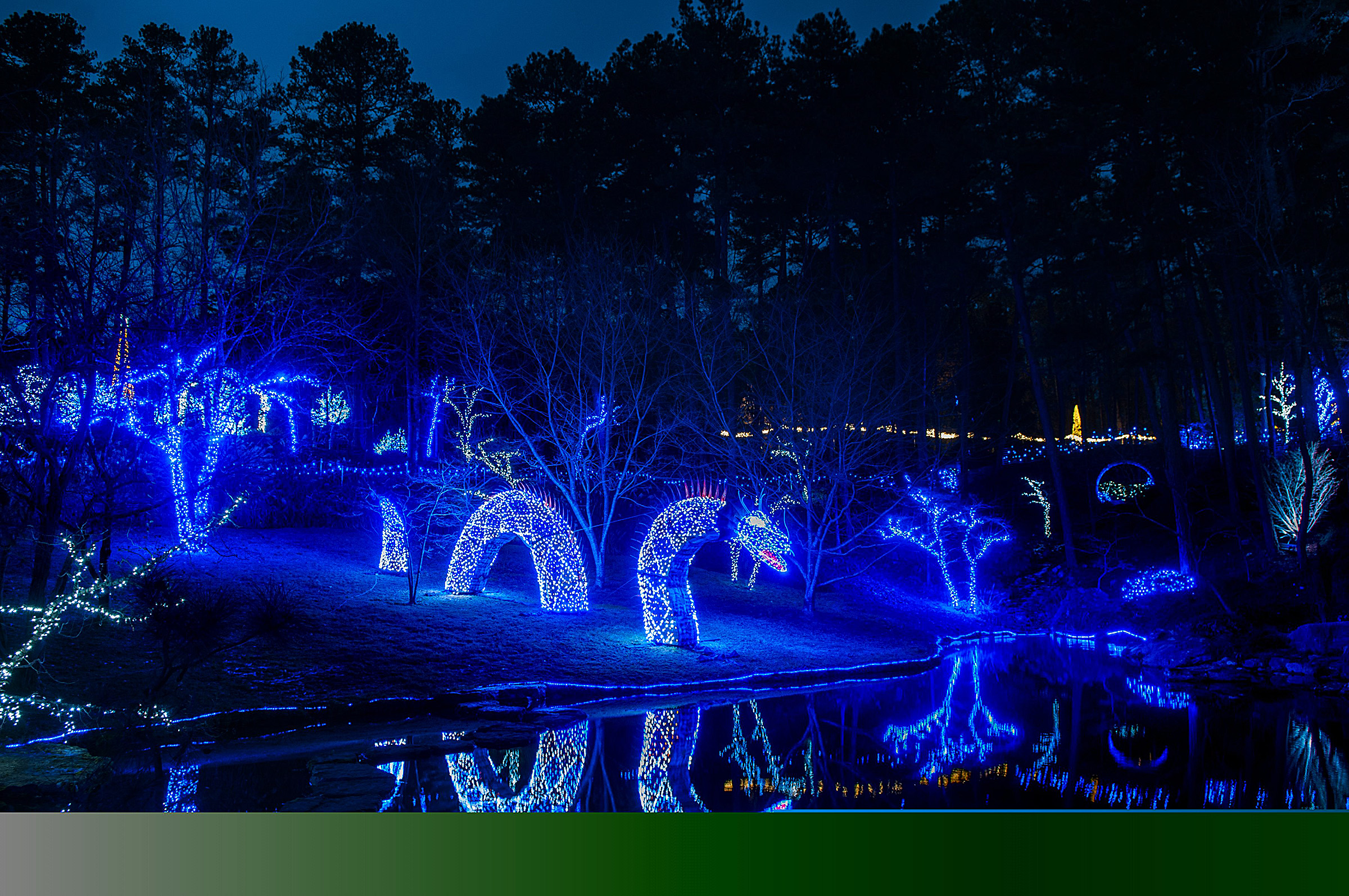 Garvan Gardens Christmas Lights 2021 Arkansas Sightseeing 9 Cities In State With Holiday Light Displays