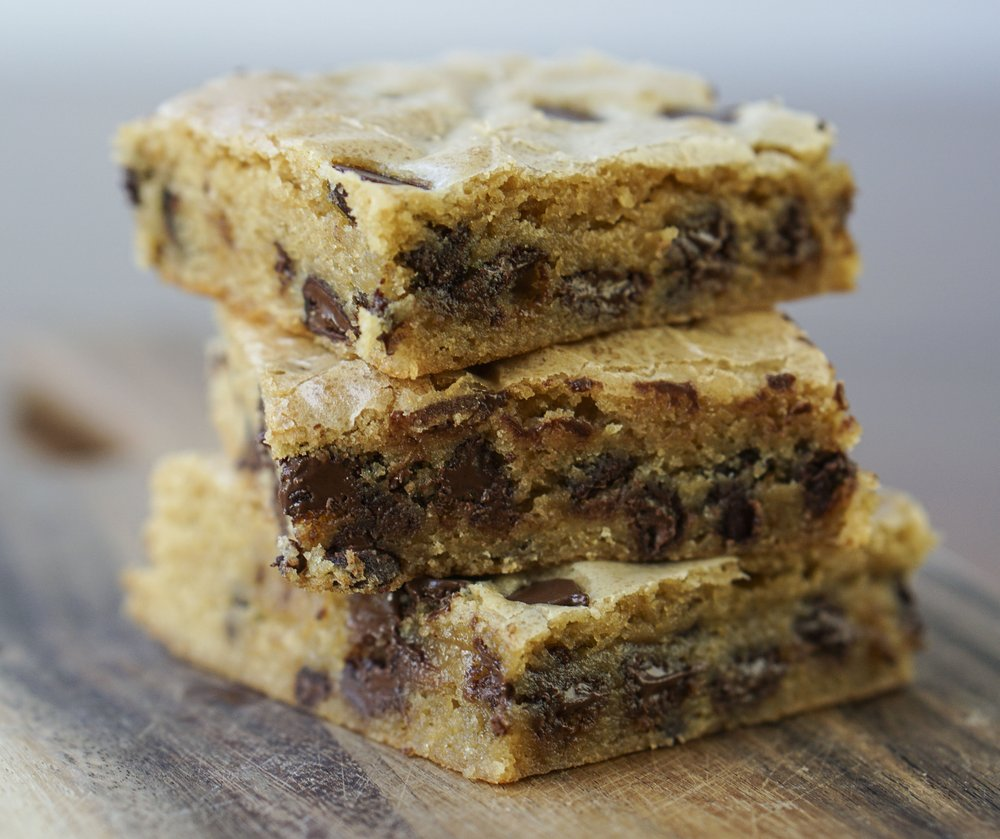 Brown Butter-Bourbon Chocolate Chip Bars