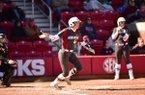Danielle Gibson, who hit four home runs on Saturday, added an RBI single in Arkansas softball's 10-2 victory over IUPUI on Sunday.