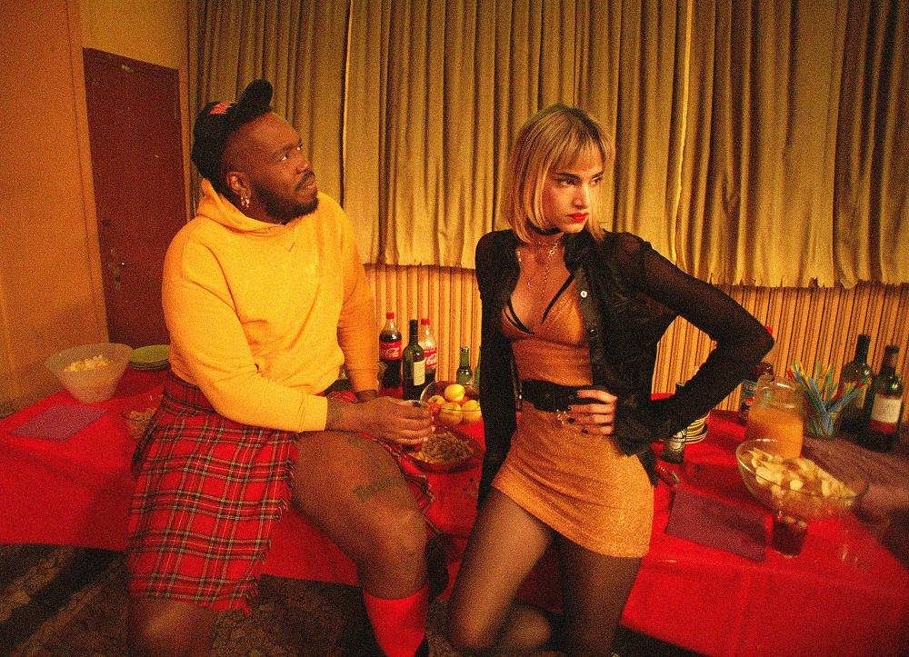 DJ Daddy (Kiddy Smile) and lead dancer Selva (Sofia Boutella) are about to have the worst night of their lives in Gasper Noe's lurid horror rave Climax.