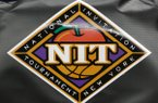 An NIT logo on the back of a chair during the second half of an NIT college basketball game in Charlottesville, Va., Tuesday, March 19, 2013. Virginia won 67-56. (AP Photo/Steve Helber)