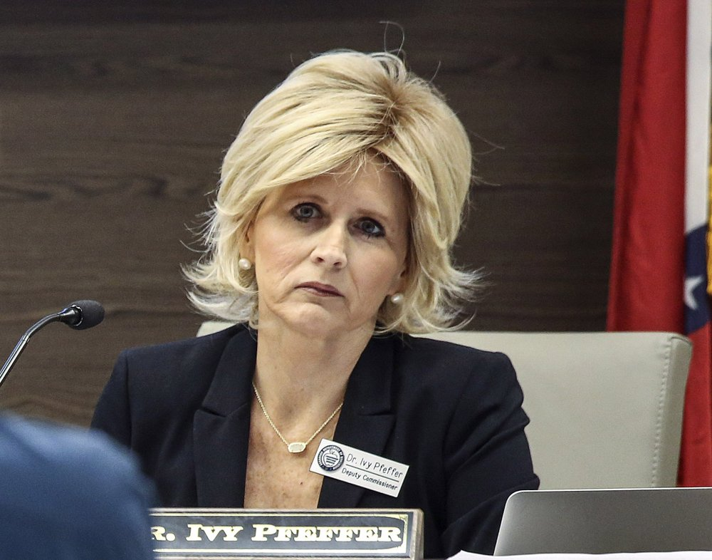 Ivy Pfeffer, deputy commissioner of the Arkansas Department of Education, is shown in this file photo.