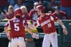 Arkansas Missouri Saturday, March 16, 2019, during the inning at Baum-Walker Stadium in Fayetteville. Visit nwadg.com/photos to see more photographs from the game.