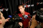 Arkansas basketball coach Eric Musselman talks about his new team during the State of the Hog event on Wednesday, April 10, 2019, at Verizon Arena in North Little Rock.