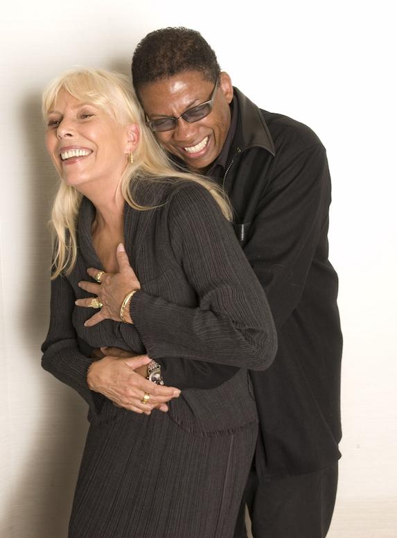 Joni Mitchell and Herbie Hancock (Democrat-Gazette file photo)