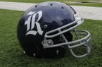 A Rice helmet sits near the end zone during the second half of of an NCAA college football game on Saturday, Oct. 11, 2014, in West Point, N.Y. (AP Photo/Hans Pennink)