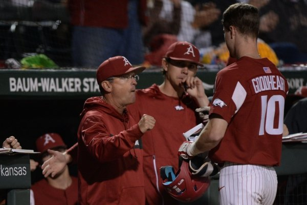 Arkansas LSU Friday, May 10, 2019, during the inning at Baum-Walker Stadium in Fayetteville. Visit nwadg.com/photos to see more photographs from the game.