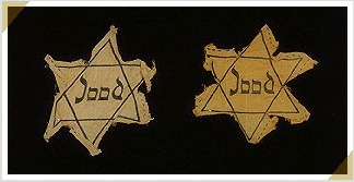 Emblems were used to identify Jews under the Nazi regime. (Courtesy of the Anne Frank Center for Mutual Respect)