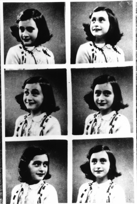 Anne Frank is shown in a series of photos. (Courtesy of the Anne Frank Center for Mutual Respect)