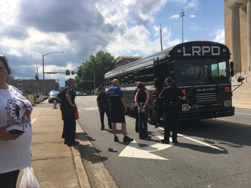 Little Rock Police Arrest Protesters Blocking Traffic