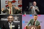 Basketball coaches (clockwise) Eric Musselman of Arkansas, Buzz Williams of Texas A&M, Nate Oats of Alabama and Jerry Stackhouse of Vanderbilt are in their first year at SEC programs.