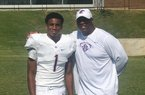 2022 athlete Dallan Hayden and his father Aaron Hayden.