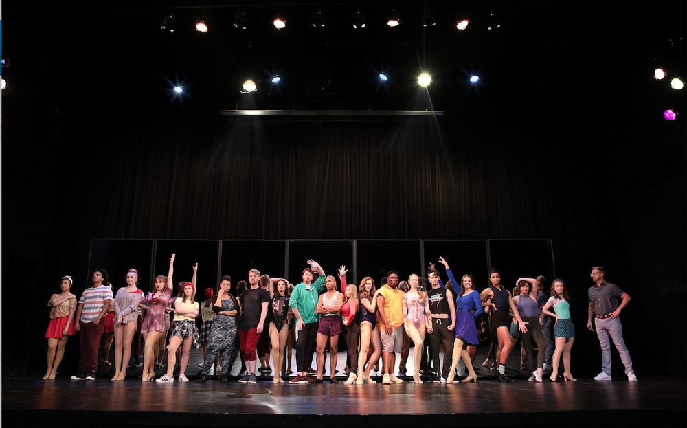 """Sold-out shows of """"A Chorus Line"""" may have made the Argenta Community Theater a target for ticket counterfeiters. (Special to the Democrat-Gazette)"""