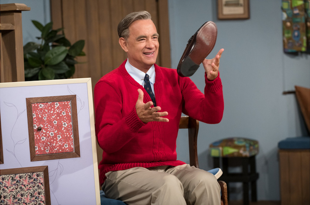 "Tom Hanks portrays beloved children's television star Mister Rogers in ""A Beautiful Day in the Neighborhood."" (Columbia Pictures Entertainment)"