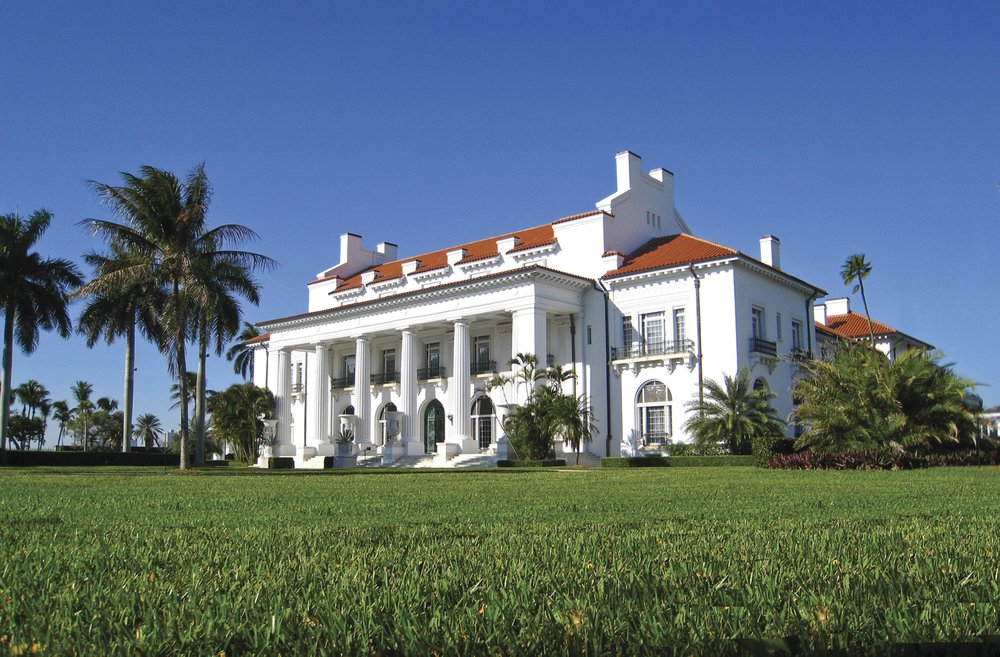Whitehall, Henry Flagler's estate in Palm Beach, FL, is a National Historic Landmark and open to the public as the Henry Morrison Flagler Museum. It was built in 1902. (Photo courtesy the Flagler Museum 2019 via TNS)