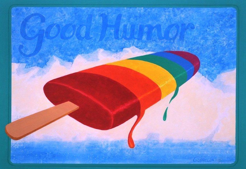 Good Humor by Fayetteville artist Jan Gosnell, on display Sept. 5-28 at Fenix Fayetteville.