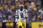LSU safety Eric Monroe (11) during an NCAA football game against Georgia Southern, Saturday, August 31, 2019, in Baton Rouge, La. (AP Photo/Tyler Kaufman)