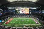A view of AT&T Stadum Saturday, Sept. 29, 2018, before the Southwest Classic between Arkansas vs Texas A&M in Arlington, Texas.