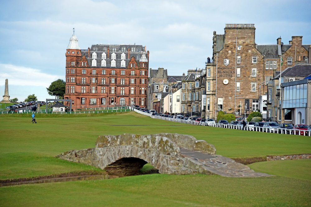 To reserve a tee time at the scenic Old Course of the St. Andrews Links, youll need to book a year ahead and pay a pretty penny. (Photo by Cameron Hewitt via Rick Steves' Europe)