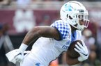 Kentucky wide receiver Lynn Bowden, Jr. (1) returns a punt during the first half of an NCAA college football game against Mississippi State, Saturday, Sept. 21, 2019, in Starkville, Miss. Mississippi State won 28-13. (AP Photo/Kelly Donoho)