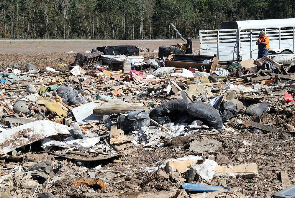 People dump their trash at the Garland County Landfill Tuesday, October 8, 2019. (The Sentinel-Record/Richard Rasmussen)