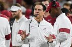 Alabama head coach Nick Saban reacts, Saturday, October 26, 2019 during the second quarter of a football game at Bryant-Denny Stadium in Tuscaloosa, Ala.