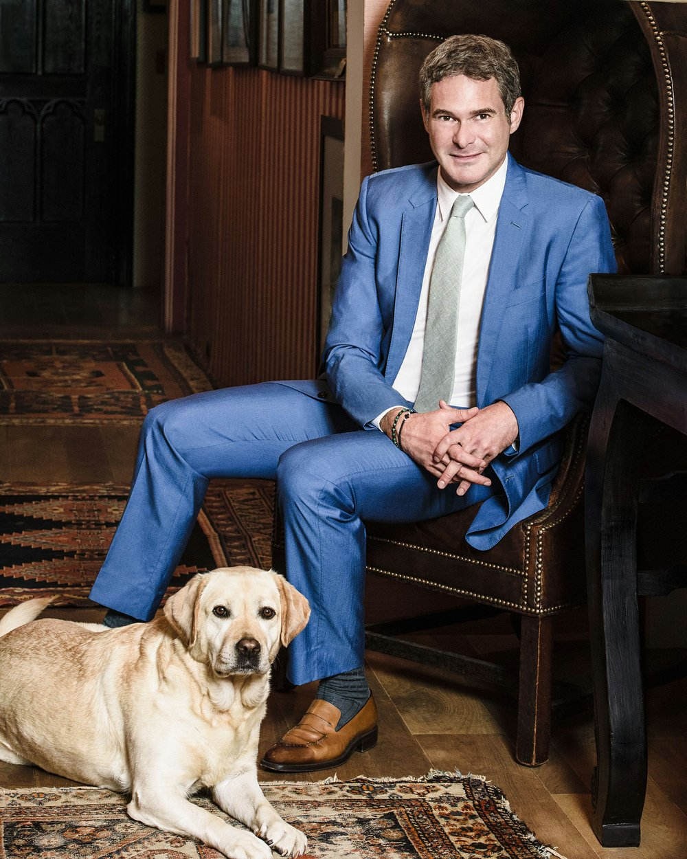 Arkansan/New Yorker Bronson van Wyck travels the world to throw fabulous parties as one of the country's top event planners. He and his dog, Cat, get back home to Tuckerman every chance they get. (Photo by Hannah Thomson, special to the Democrat-Gazette)