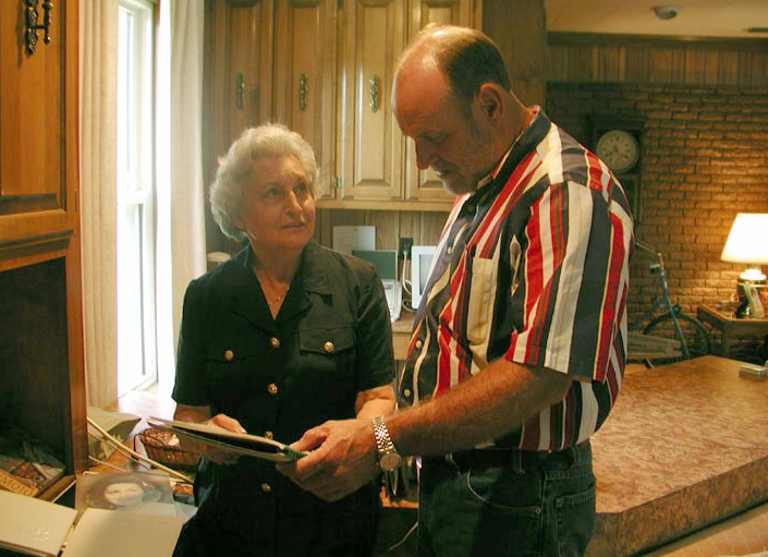 Rosalie Santine Gould and Mark McElroy had active roles in the preservation of art and documents from Rohwer. (Special to the Democrat-Gazette/DEBORAH HORN)