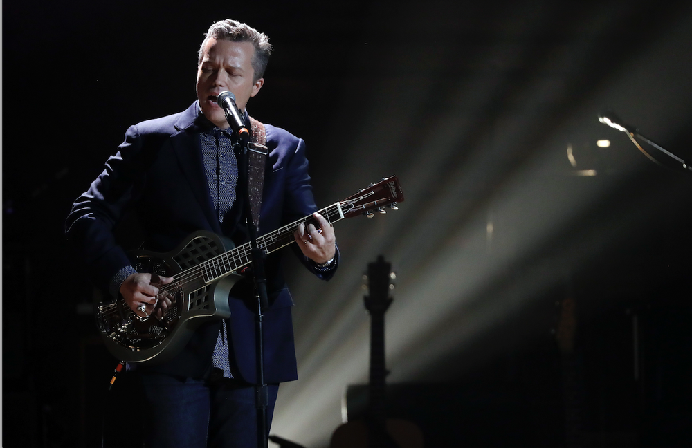 Jason Isbell performs during the Americana Honors and Awards show , Sept. 13, 2017, in Nashville, Tenn. (AP)