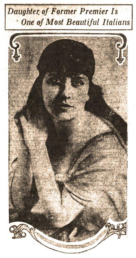 The beauteous and sacrificing Miss Carlotta Orlando, from the Dec. 8, 1919, Arkansas Gazette. (Arkansas Democrat-Gazette)