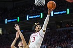 Desi Sills, Arkansas guard, makes a shot in the first half vs Texas A&M Saturday, Jan. 4, 2020, at Bud Walton Arena in Fayetteville.